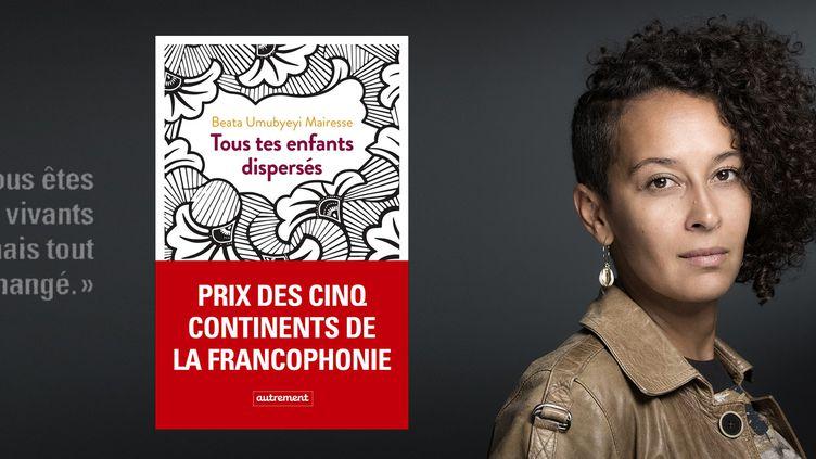 Prix des cinq continents de la francophonie 2020 attribué à Beata Umubyeyi Mairesse pour son livre « Tous tes enfants dispersés » (Editions Autrement) (JOEL SAGET / AFP)