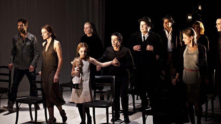 """""""Six personnages en quête d'auteur""""de Pirandello, au théâtre de la Ville le 19 mai 2021. (JL FERNANDEZ / THEATRE DE LA VILLE)"""