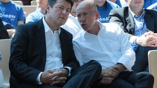 Christian Estrosi (à gauche) et Eric Ciotti, lors du campus UMP de Nice (Alpes-Maritimes), le 6 septembre 2014. (  MAXPPP)