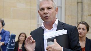 Thierry Lepaon, le secrétaire général de la CGT, le 26 août 2013,à l'issue d'une rencontre avec le Premier ministre à Matignon (Paris). (BERTRAND GUAY / AFP)