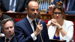Le Premier ministre, Edouard Philippe, le 24 juillet 2018 à l'Assemblée nationale. (BERTRAND GUAY / AFP)