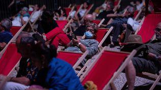 Le festival d'Avignon, en juillet 2020. (CLEMENT MAHOUDEAU / AFP)