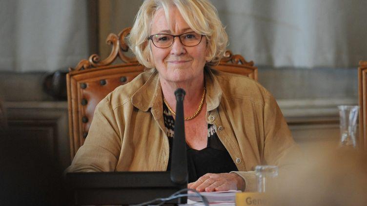 Geneviève Gaillard, à la mairie de Niort (Deux-Sèvres), le 14 octobre 2013. (MAXPPP)