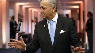 Le ministre des Affaires étrangèreset président de la COP21, Laurent Fabius, le 11 décembre 2015 au Bourget. (? STEPHANE MAHE / REUTERS / X02520)