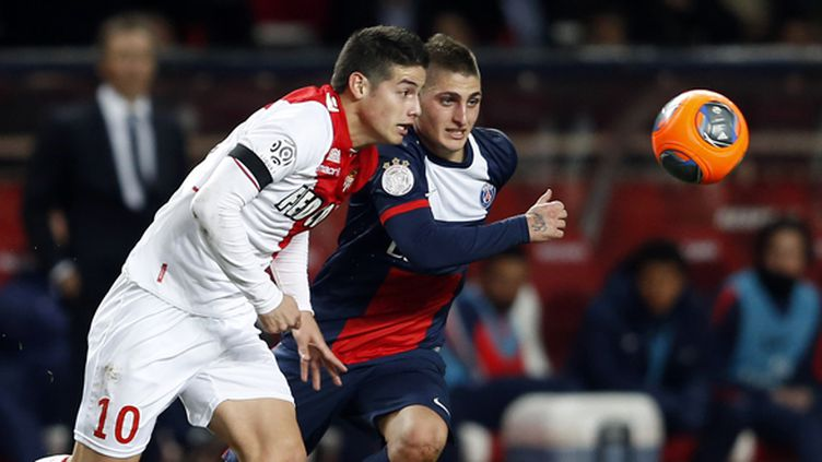 Marco Verratti et James Rodriguez en action (VALERY HACHE / AFP)