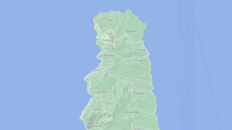 Un corps a été retrouvé lundi 5 octobre dans un chemin de maquis près de Centuri (Haute-Corse). (GOOGLE MAPS)