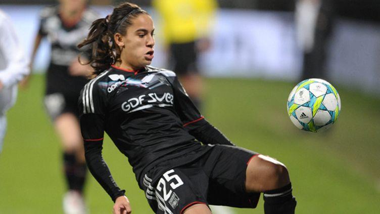 Amel Majri a inscrit le 1er des quatre buts lyonnais, (FREDERIC CHAMBERT / LE PROGRES / MAXPPP)
