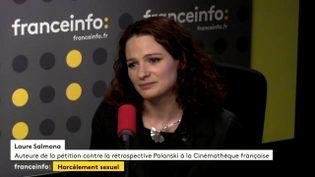 La militante féministe Laure Salmona invitée de franceinfo le 30 octobre 2017. (FRANCEINFO)