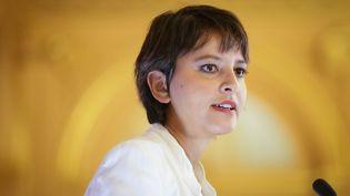 La ministre de l'Education, Najat Vallaud-Belkacem, lors d'une conférence de presse à Paris, le 29 août 2016. (MAXPPP)