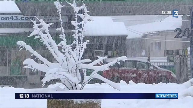 Intempéries : la neige de retour en Haute-Loire