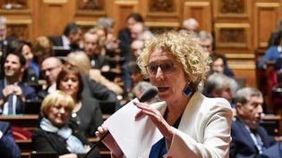 La ministre du Travail, Muriel Pénicaud, s'exprime au Sénat, à Paris, le 6 novembre 2019. (DANIEL PIER / NURPHOTO / AFP)