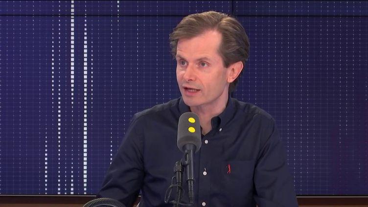 Guillaume Larrivé, sur franceinfo, mardi 13 août 2019. (FRANCEINFO)