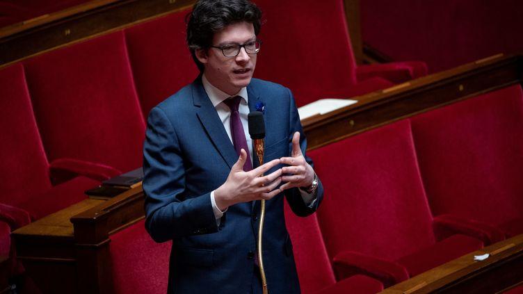 Le député Les Républicains Pierre-Henri Dumont à l'Assemblée nationale, en mai 2020. (THOMAS SAMSON / AFP)