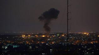 Des tirs aériens israéliens ont tué 15 Palestiniens, samedi 12 juillet 2014. ( ANADOLU AGENCY / AFP)