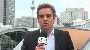 Une attaque au couteau a été perpétrée à Würzburg, en Allemagne, vendredi 25 juin. Le journaliste Laurent Desbonnets était en direct de Berlin pour le 19/20 de France 3. (CAPTURE ECRAN FRANCE 3)