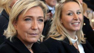 Marine Le Pen et Marion Maréchal-Le Pen à Nice, le 15 octobre 2016. (ERIC GAILLARD / AP / SIPA)