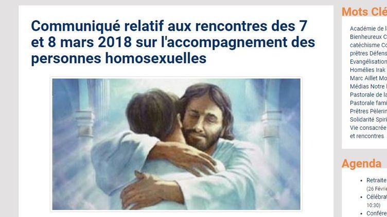 Capture d'écran du site internet du diocèse de Bayonne (Pyrénées-Atlantiques), le 4 mars 2018. (DIOCESE DE BAYONNE)