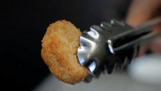 Un nugget réalisé à partir de cellules d'animaux. (FRANCE 2)