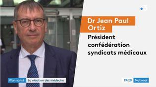 Les médecins réagissent à la réforme du plan santé proposée par Emmanuel Macron. (FRANCE 3)