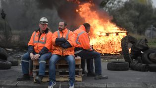 Manifestation de salariés d'Ascoval, le 24 octobre 2018, dans le Nord. (MAXPPP)