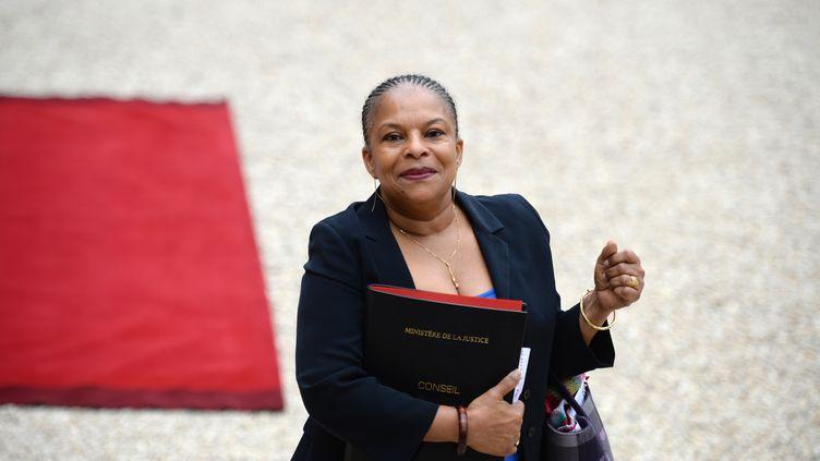 La ministre de la Justice, Christiane Taubira, le 7 mai 2013, à l'Elysée, à Paris. (MARTIN BUREAU / AFP)