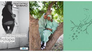"L'affiche des Rencontres photo de Bamako et Rahima Gambo, ""Education is Forbidden"", 2015 (Nigéria)  (A droite ©Rahima Gambo)"
