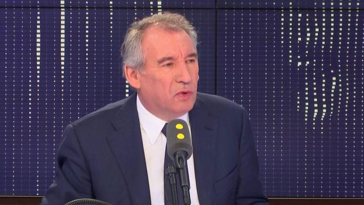 François Bayrou, maire de Pau et président du MoDem, invité le 11 décembre 2018 de franceinfo. (FRANCEINFO / RADIO FRANCE)