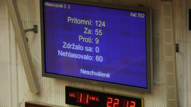 Le parlement slovaque a voté contre le renforcement du Fonds européen de stabilité financière. (SAMUEL KUBANI / AFP)