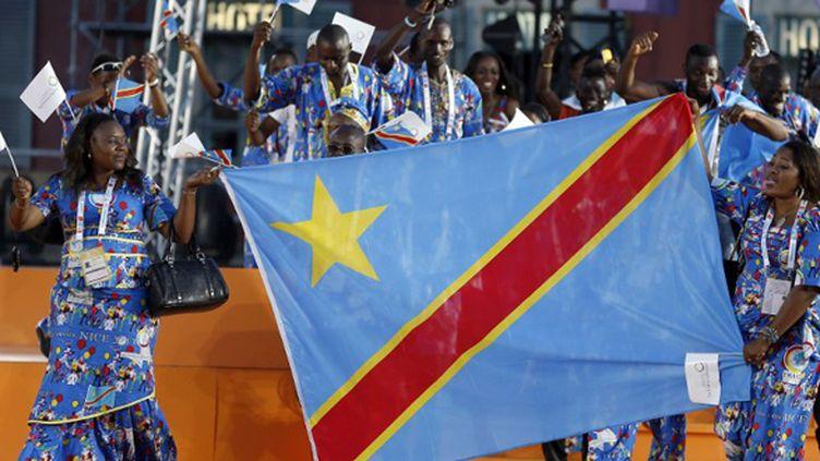 La délégation du RD Congo aux jeux de la Francophonie (VALERY HACHE / AFP)