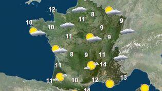 La météo dans la nuit du 21 octobre au 22 octobre 2015. (FRANCETV INFO)