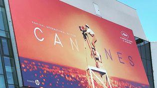 L'affiche du 72e Festival de Cannes (Alpes-Maritimes). (ALAIN FAUCHER / RADIO FRANCE)