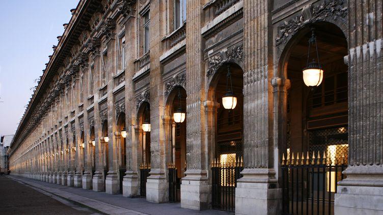 Les arcades du Palais-Royal, lieu sulfureux duXVIIIe siècle. (MAUD DELAFLOTTE / GAMMA-RAPHO)