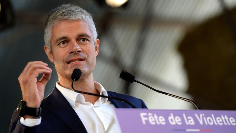 Le président de la région Auvergne-Rhône-Alpes, Laurent Wauquiez, le 30 septembre 2017 àSouvigny-en-Sologne (Loir-et-Cher). (GUILLAUME SOUVANT / AFP)