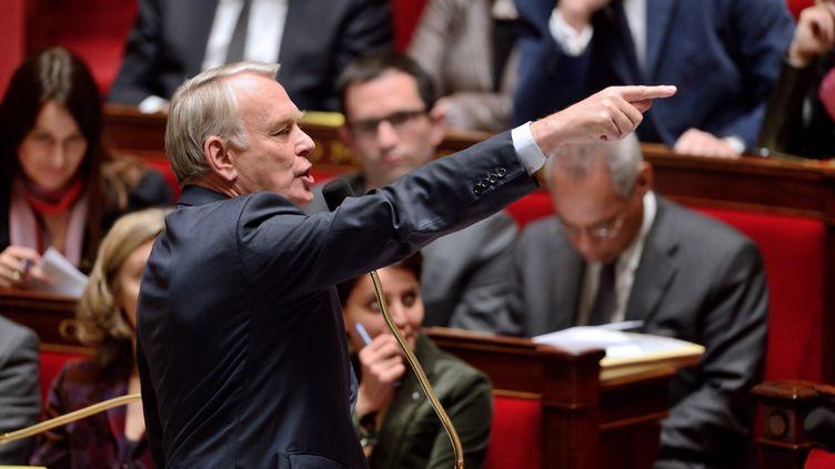 Le Premier ministre, Jean-Marc Ayrault, devant les députés à l'Assemblée nationale, à Paris, le 26 mars 2013. (ERIC FEFERBERG / AFP)