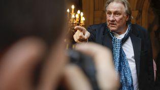 Gérard Depardieu à Bruxelles (Belgique), le 25 juin 2018. (THIERRY ROGE / BELGA MAG / AFP)