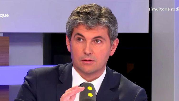 Gilles Platret, porte-parole Les Républicains, était l'invité de franceinfo mercredi 2 mai 2018.  (FRANCEINFO)