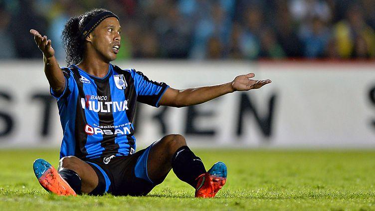 Ronaldinho est rentré à Queretaro. (ISAAC ORTIZ / MEXSPORT)