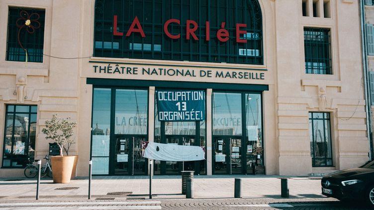 """""""La Criée"""", théâtre de Marseille, le 23 mars 2021. (THEO GIACOMETTI / HANS LUCAS)"""