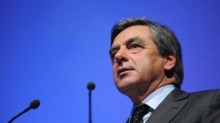 François Fillon lors d'un meeting à Olivet (Loiret), le 9 décembre 2015. (GUILLAUME SOUVANT / AFP)
