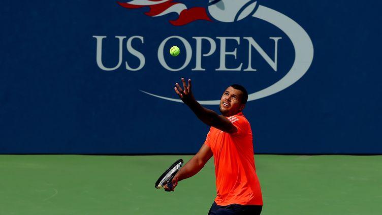 Jo Wilfried Tsonga n'a toujours pas concédé un set durant cet US Open (ELSA / GETTY IMAGES NORTH AMERICA)