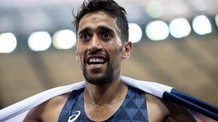 Morhad Amdouni, médaillé d'or sur le 10 000 mètres aux championnats d'Europe de Berlin, le 7 août 2018. (SVEN HOPPE / DPA)