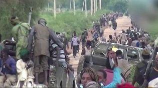 Capture d'écran montrant des exactions du groupe jihadiset Boko Haram au Nigéria (FRANCE 2)