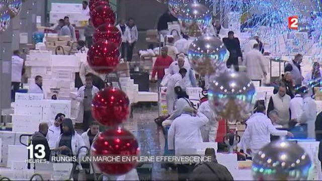 Rungis : un marché en pleine effervescence pour les fêtes de Noël