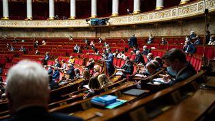 Les députés siègent à l'Assemblée nationale (Paris), le 2 mars 2021. (XOSE BOUZAS / HANS LUCAS / AFP)