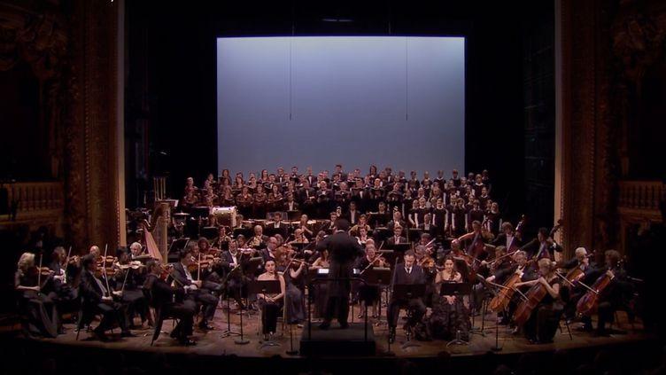 """""""Légende d'Arménie"""", concert de commémoration du centenaire du génocide arménien, à l'Opéra Comique à Paris, juin 2014. (FRANCE TELEVISIONS)"""