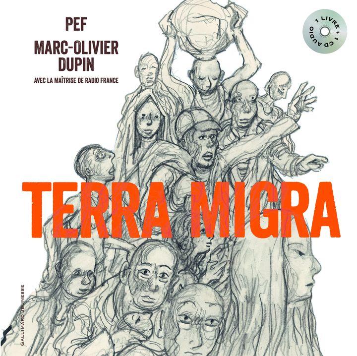 Couverture du livre Terra Migra de Pef et Marc-Olivier Dupin, Gallimard Jeunesse (GALLIMARD JEUNESSE)