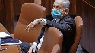 Le Premier ministre israélien,Benyamin Nétanyahou, le 17 mai 2020 à Jérusalem. (ADINA VALMAN / KNESSET SPOKESPERSON OFFICE / AFP)