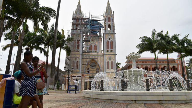 La cathédrale de Malabo, capitale de Guinée équatoriale, le 25 janvier 2015 (ISSOUF SANOGO / AFP)