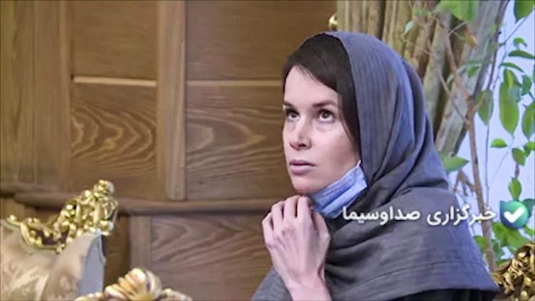 Une capture d'écran à partir d'images obtenues de la télévision d'Etat iranienne IRIB, le 25 novembre 2020, montre la chercheuse Kylie Moore-Gilbert. (IRIB NEWS AGENCY / AFP)