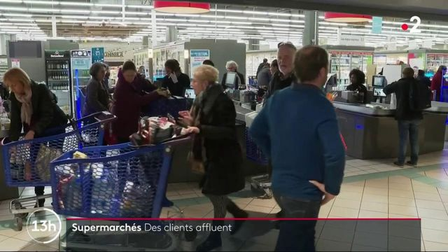 Coronavirus : les supermarchés face à l'affluence des consommateurs